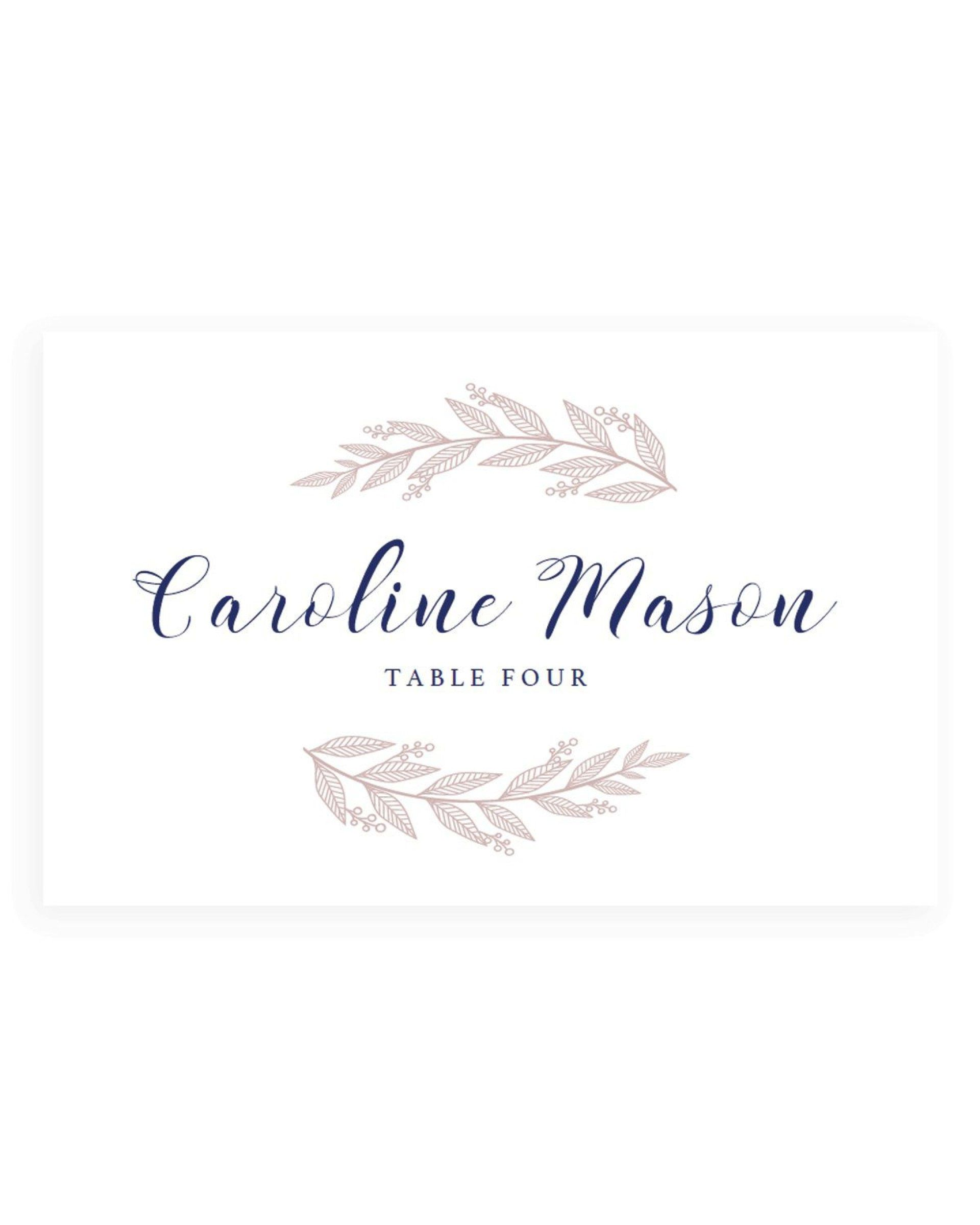 005 Formidable Name Place Card Template For Wedding Highest Clarity  Free WordFull