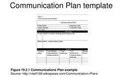 005 Formidable Project Communication Plan Template Design  Pmbok Pdf Excel Free