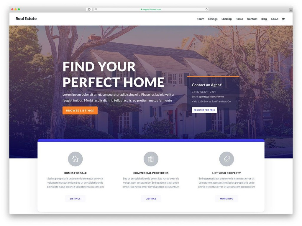 005 Formidable Real Estate Template Wordpres Idea  Homepres - Theme Free Download RealtyspaceLarge
