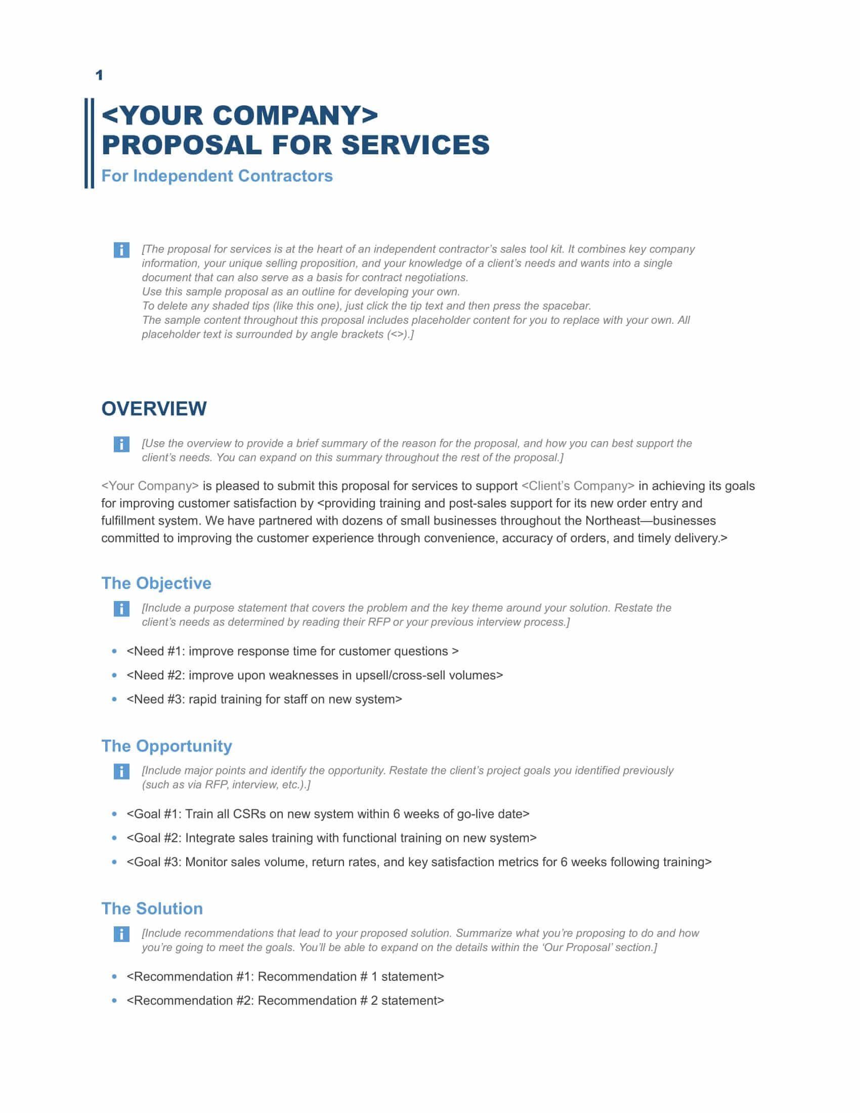 005 Formidable Request For Proposal Template Excel Concept Full