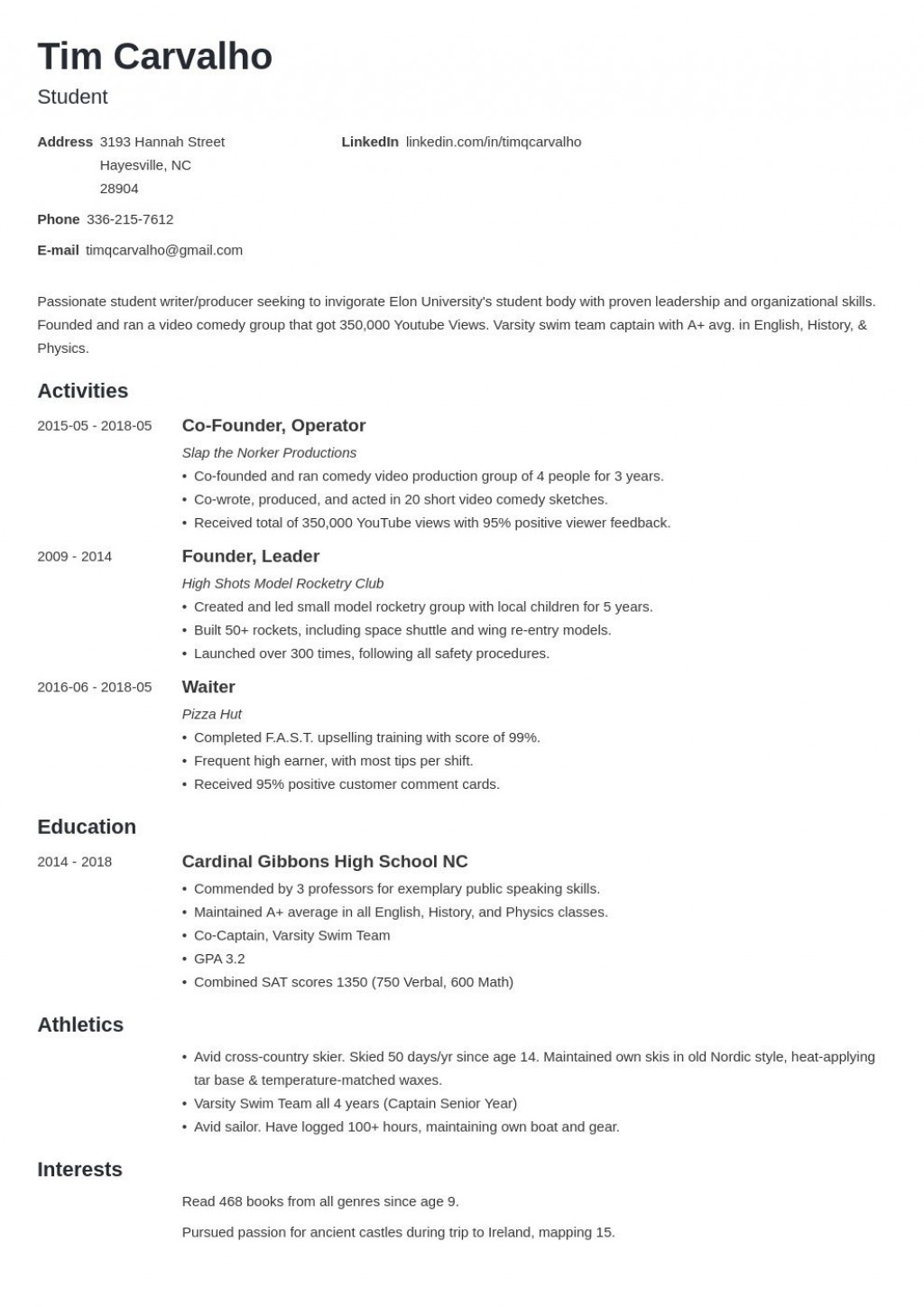 005 Formidable Resume For College Application Template Idea  TemplatesLarge