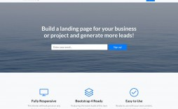 005 Formidable Simple Landing Page Template Idea  Html Bootstrap Free