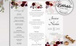 005 Formidable Trifold Wedding Program Template Inspiration  Templates Tri Fold Tri-fold Publisher Free Foldable