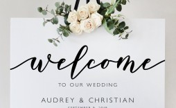 005 Formidable Wedding Welcome Sign Printable Template Concept  Free