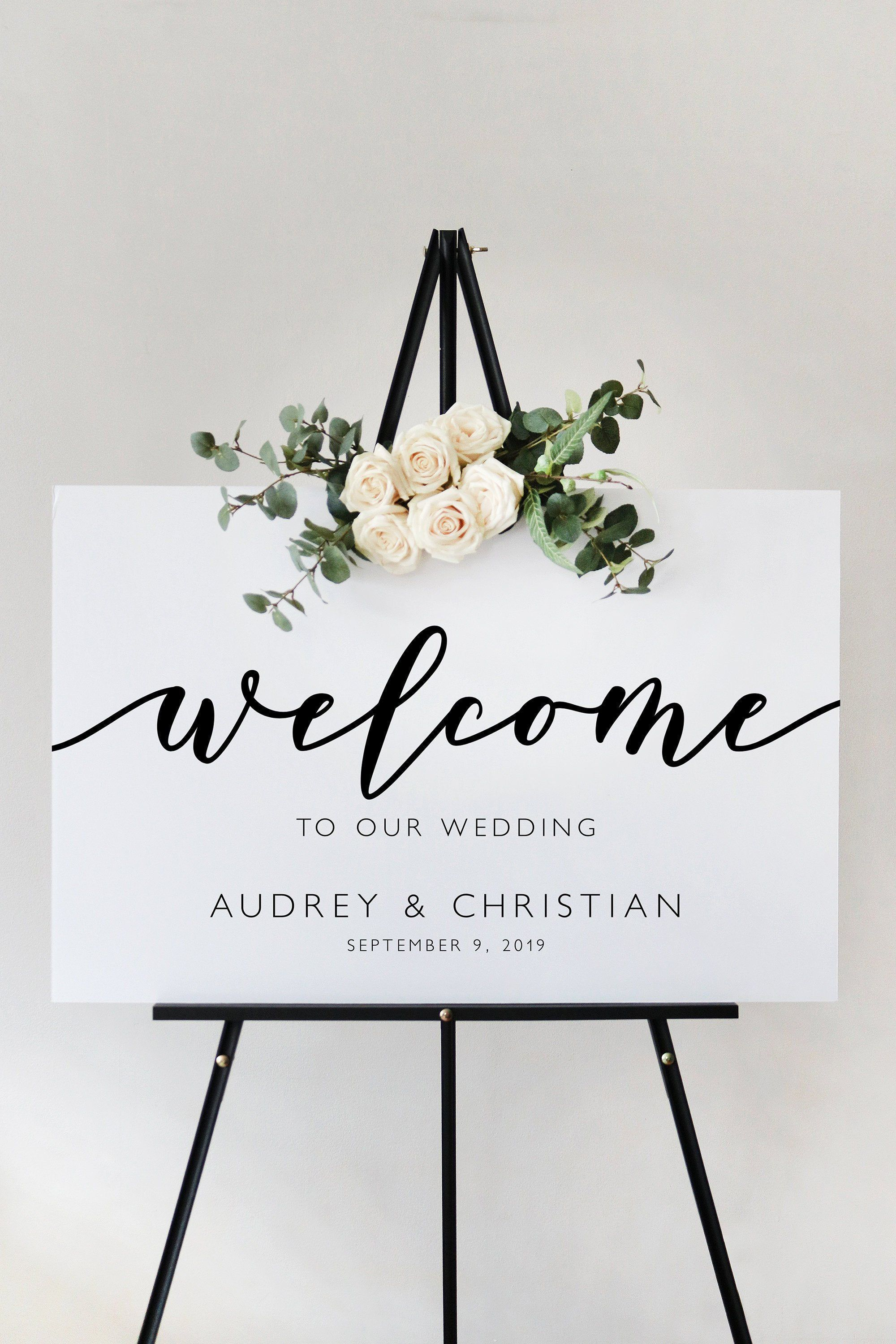 005 Formidable Wedding Welcome Sign Printable Template Concept  FreeFull