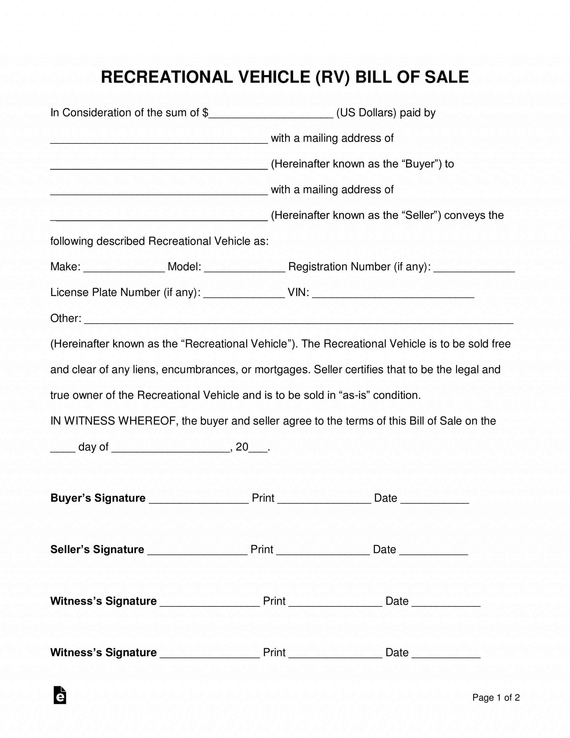 005 Frightening Bill Of Sale Template Texa Design  Texas Free Car Form Dmv Document1920