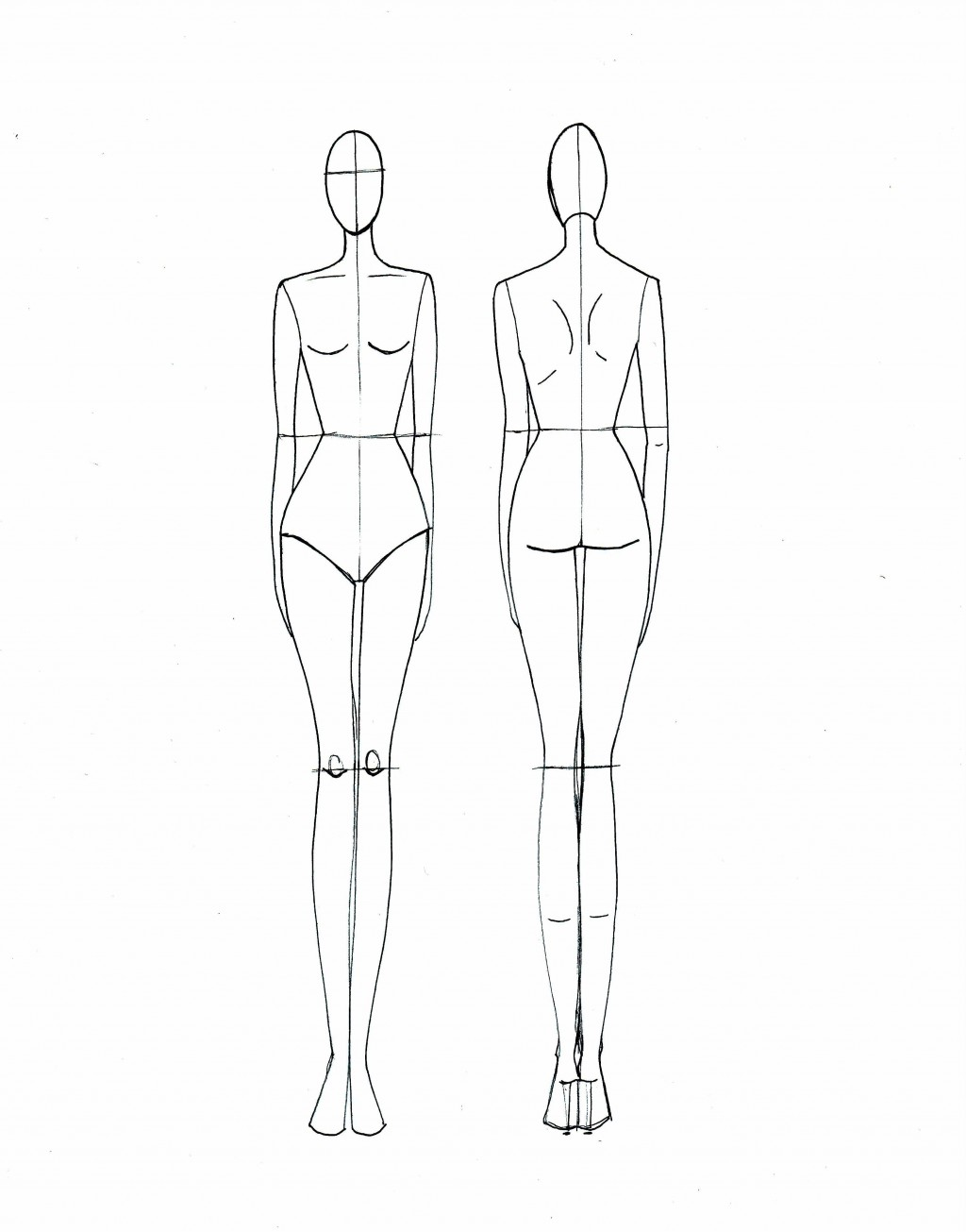 005 Frightening Body Template For Fashion Design Inspiration  Female Male HumanLarge