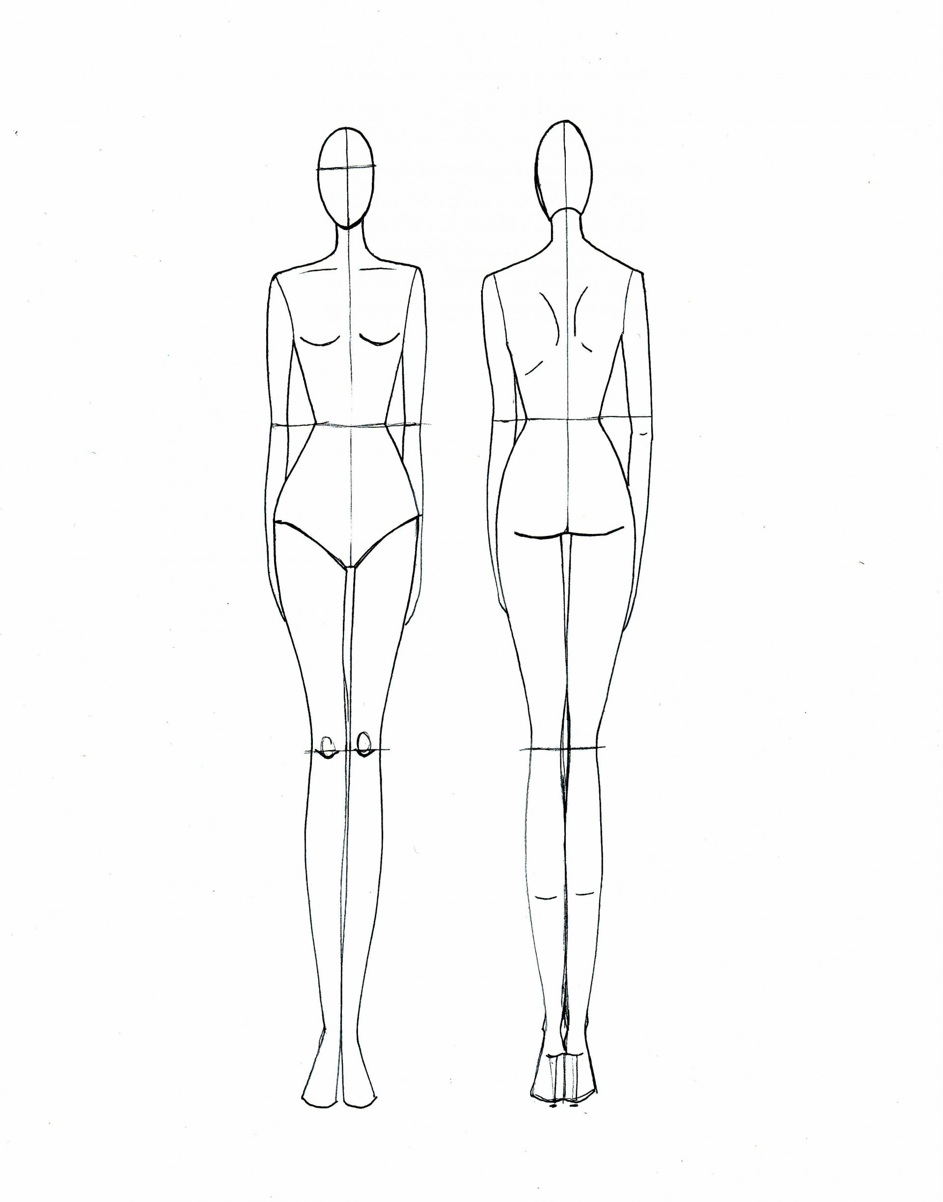 005 Frightening Body Template For Fashion Design Inspiration  Female Male Human1920