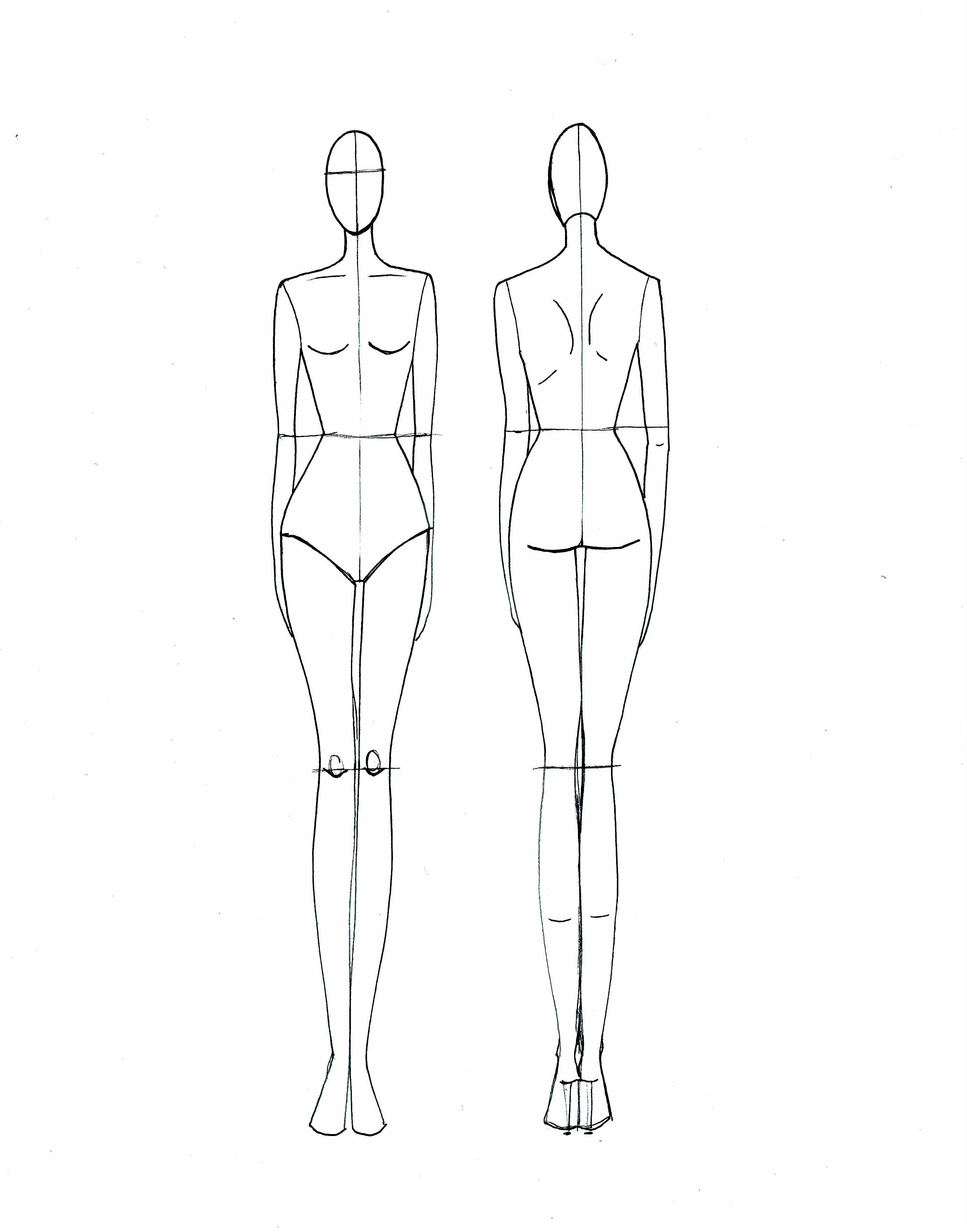 005 Frightening Body Template For Fashion Design Inspiration  Female Male HumanFull
