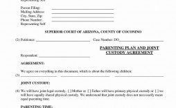 005 Frightening Child Custody Agreement Template Example  Form Ontario California Visitation Uk