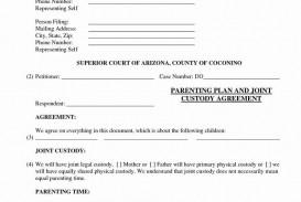 005 Frightening Child Custody Agreement Template Example  Texa Nj Uk