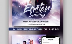 005 Frightening Church Flyer Template Free Example  Easter Anniversary Conference Psd