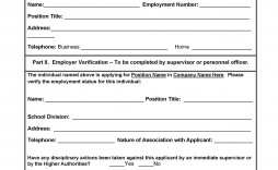 005 Frightening Employment Verification Form Template Image  Templates Previou Past Printable