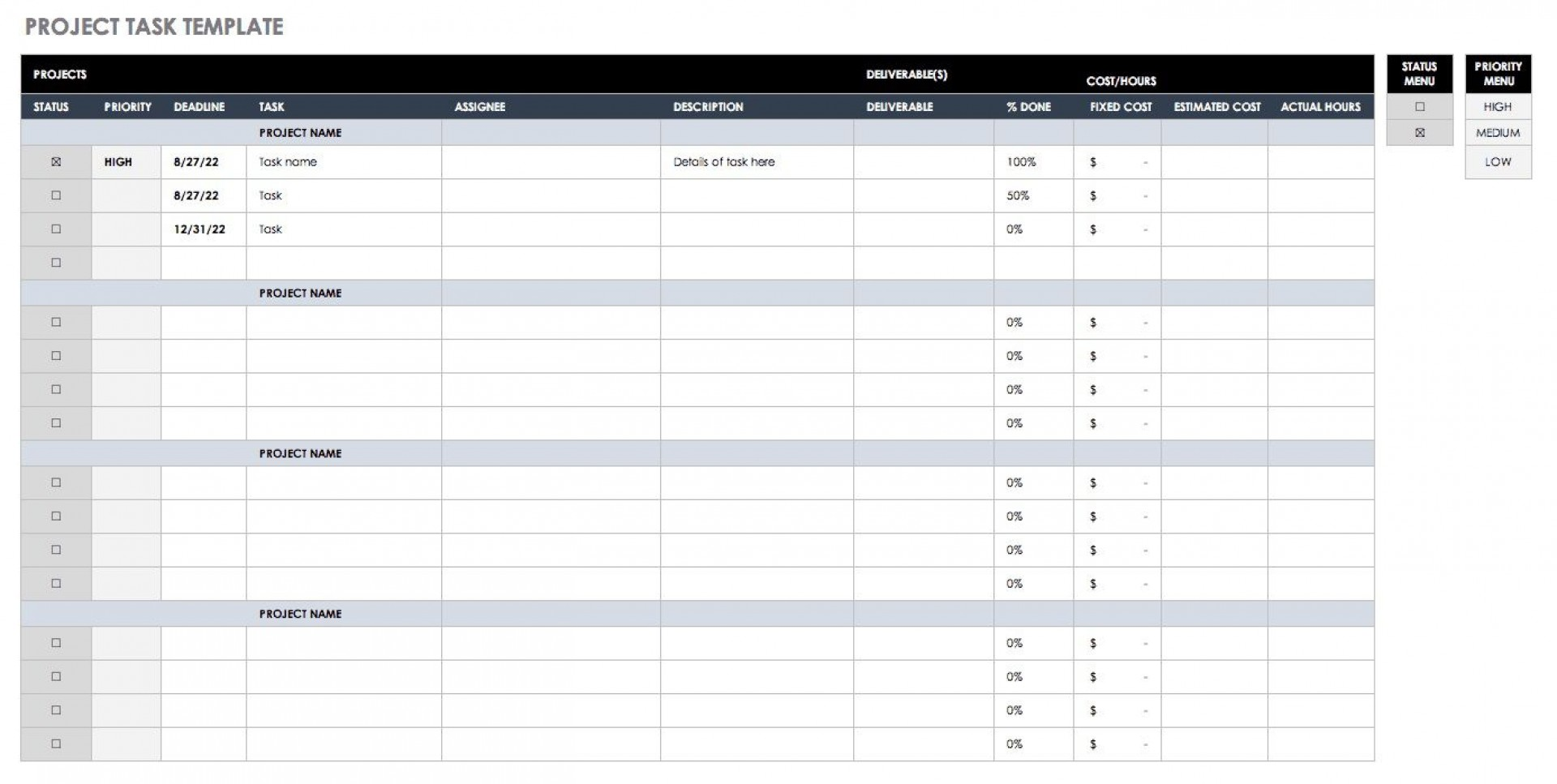 005 Frightening Excel Task Tracker Template High Def  Team Download Time1920