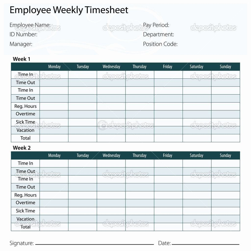 005 Frightening Excel Time Card Calculator Template Design  EmployeeLarge