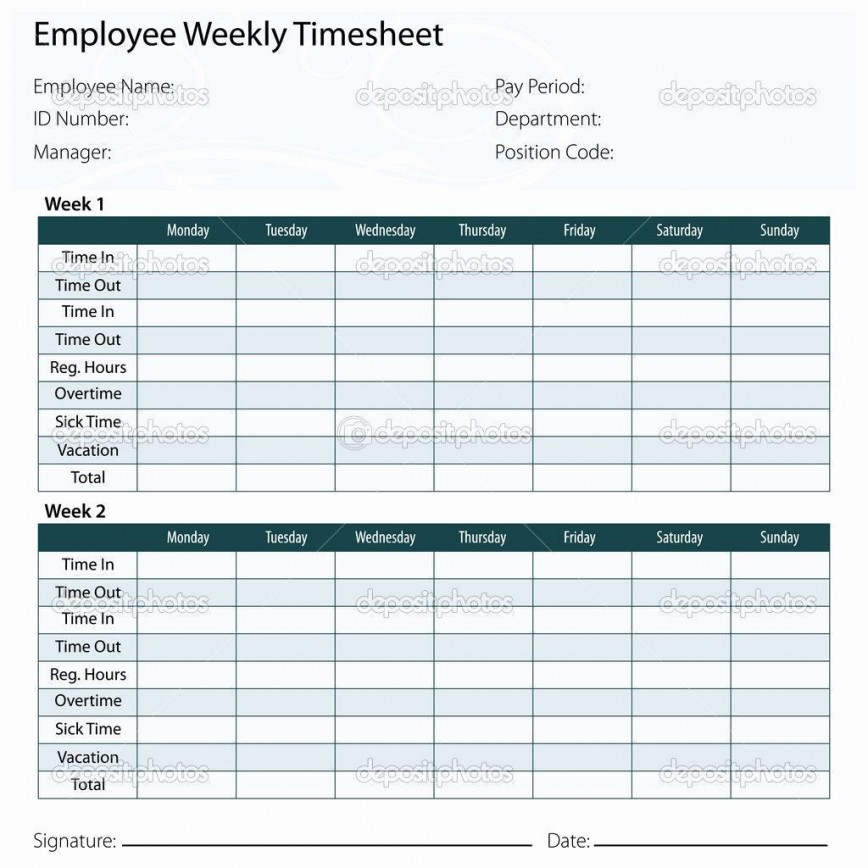 005 Frightening Excel Time Card Calculator Template Design  Employee