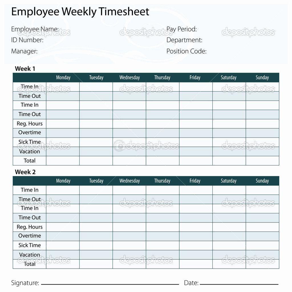 005 Frightening Excel Time Card Calculator Template Design  EmployeeFull