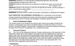 005 Frightening Exclusive Distribution Agreement Template Free Download Picture