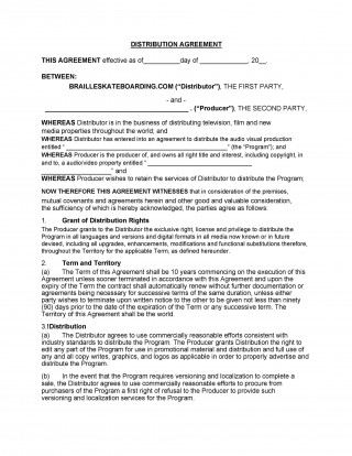 005 Frightening Exclusive Distribution Agreement Template Free Download Picture 320