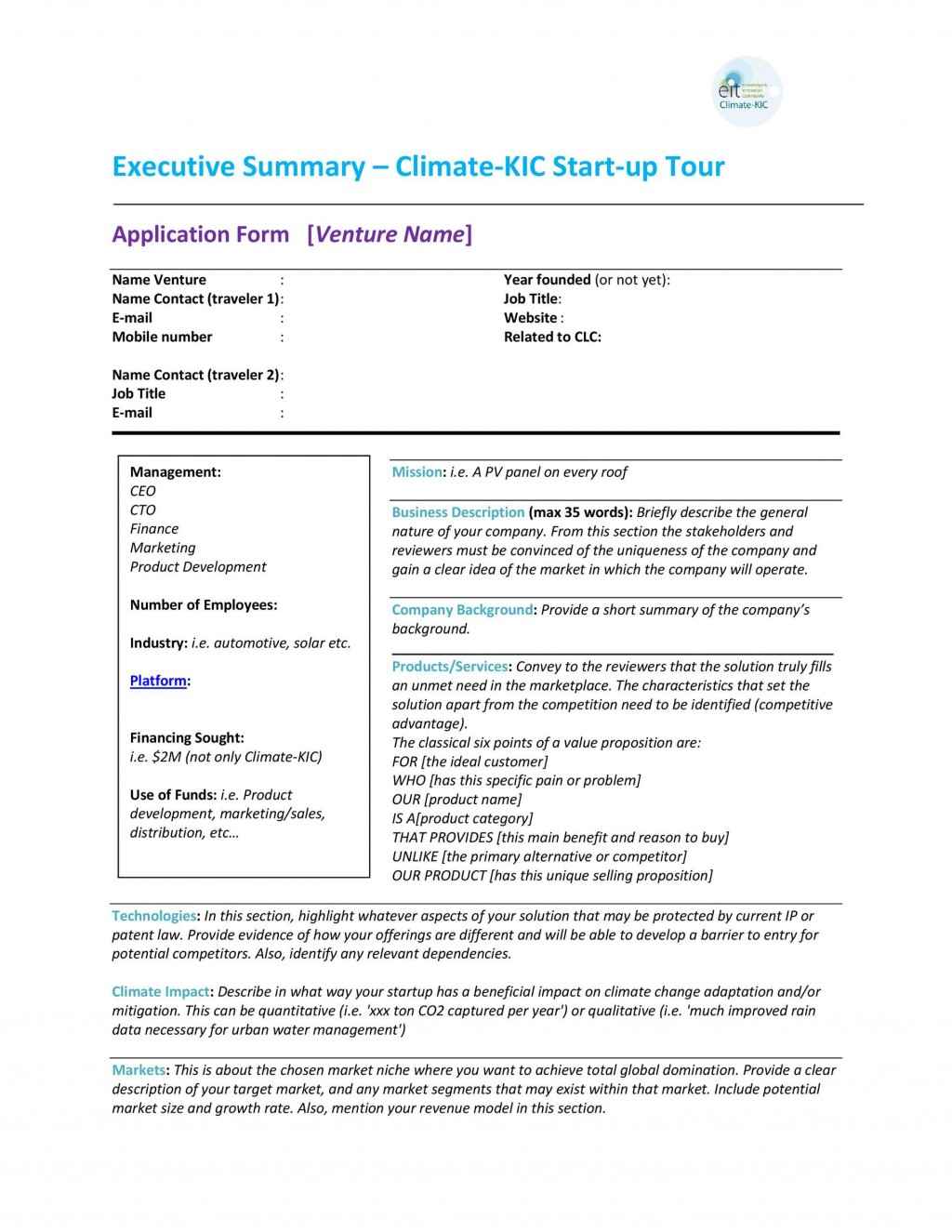 005 Frightening Executive Summary Template Doc High Def  Document Example GoogleLarge