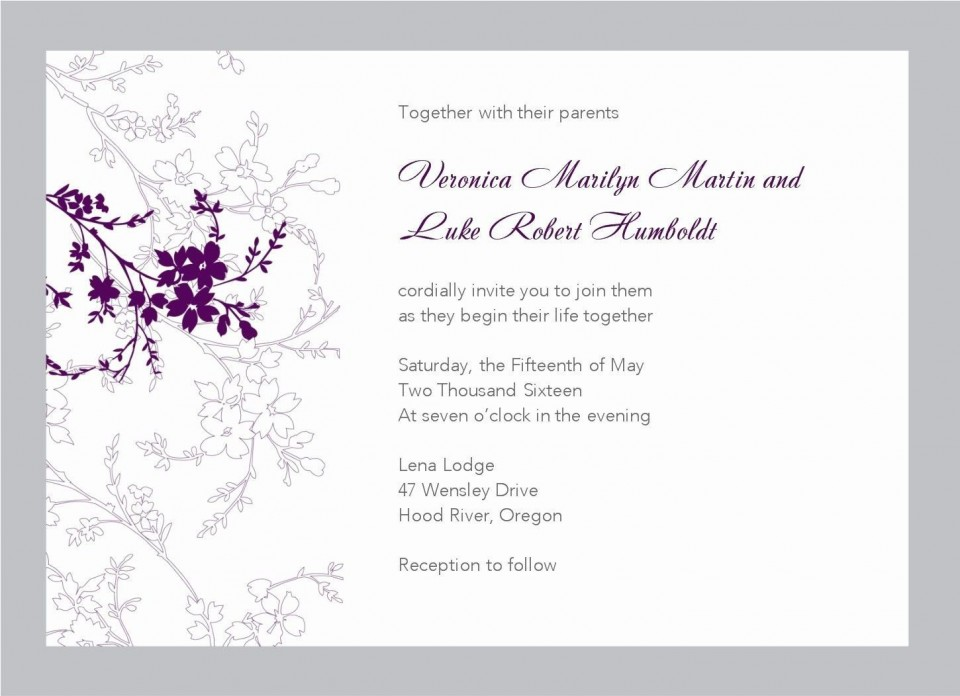 005 Frightening Free Download Wedding Invitation Template For Word Idea  Microsoft Indian960