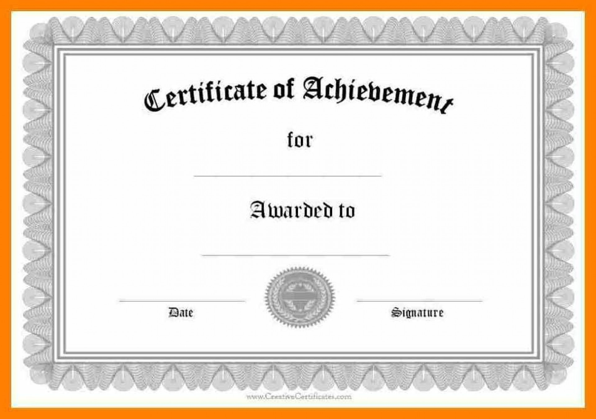 005 Frightening Free Printable Certificate Template Word Highest Clarity  Fun For Blank Gift1920
