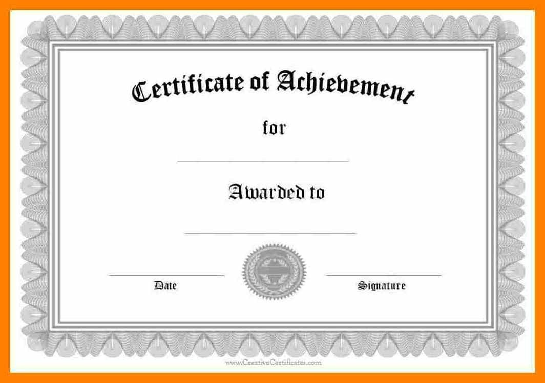 005 Frightening Free Printable Certificate Template Word Highest Clarity  Fun For Blank GiftFull