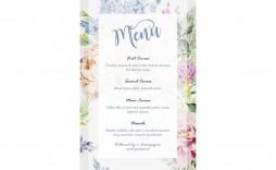 005 Frightening Free Printable Wedding Menu Card Template Example  Templates
