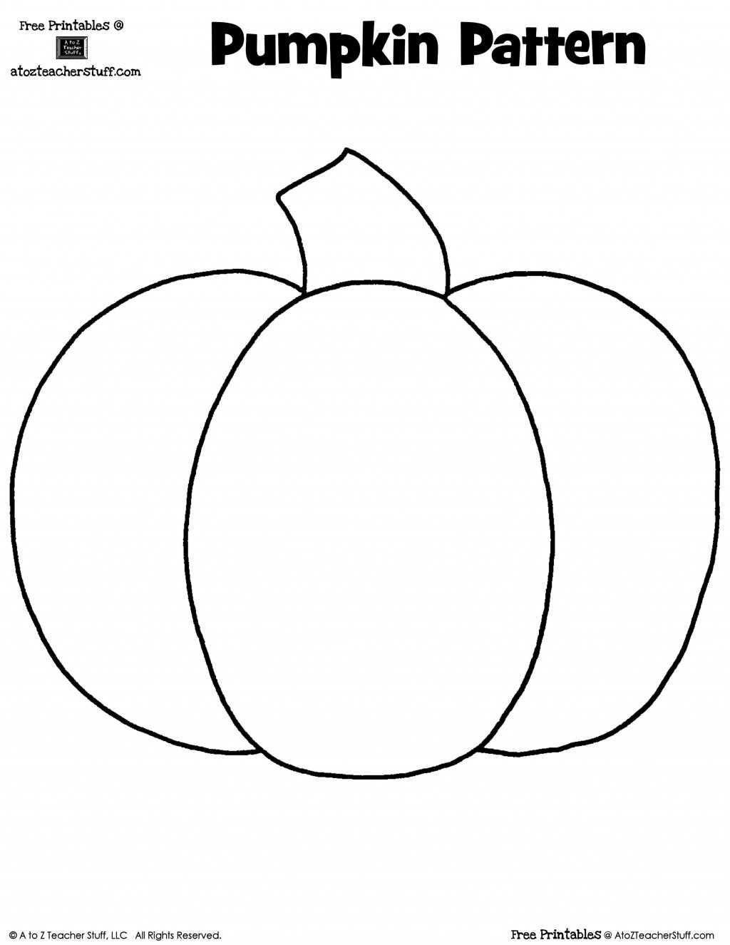 005 Frightening Free Pumpkin Template Printable High Def  Easy Carving Scary StencilLarge