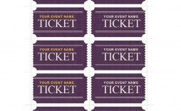 005 Frightening Fundraiser Ticket Template Free Sample  Printable Download Car Wash
