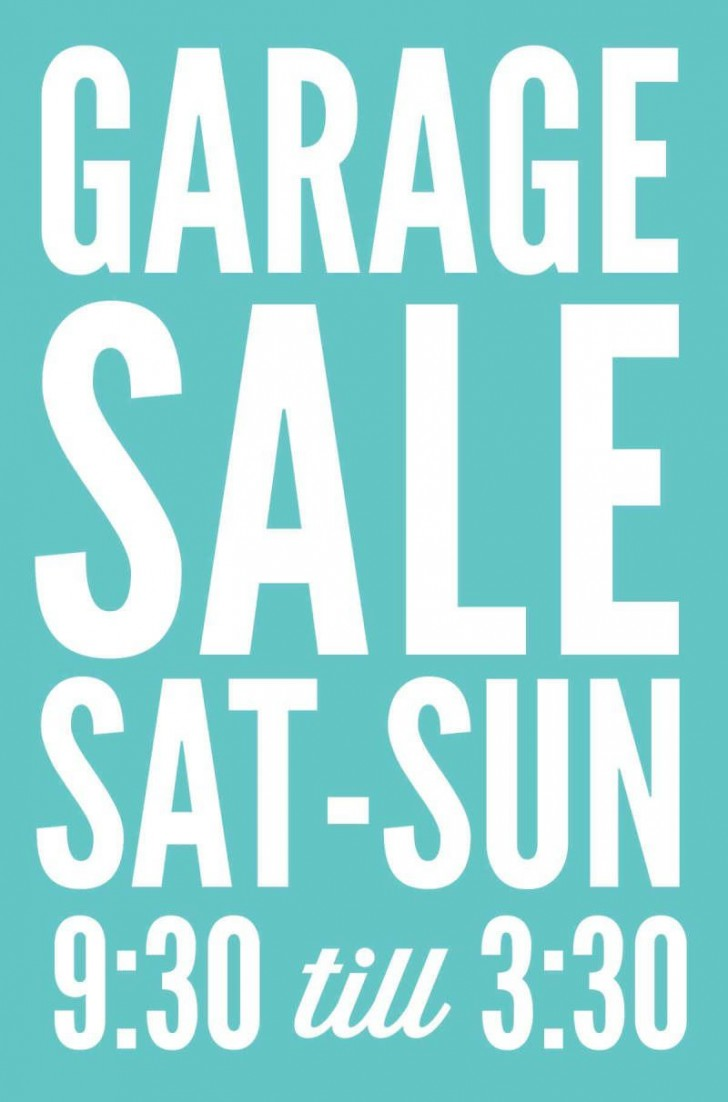 005 Frightening Garage Sale Sign Template Picture  Flyer Microsoft Word Community Yard Free Rummage728