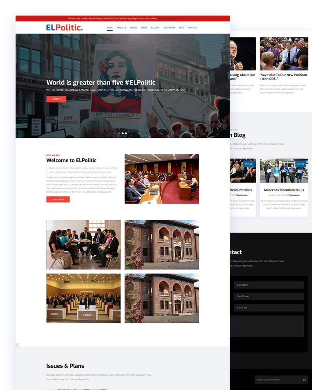 005 Frightening Government Website Html Template Free Download High Definition  With CsLarge