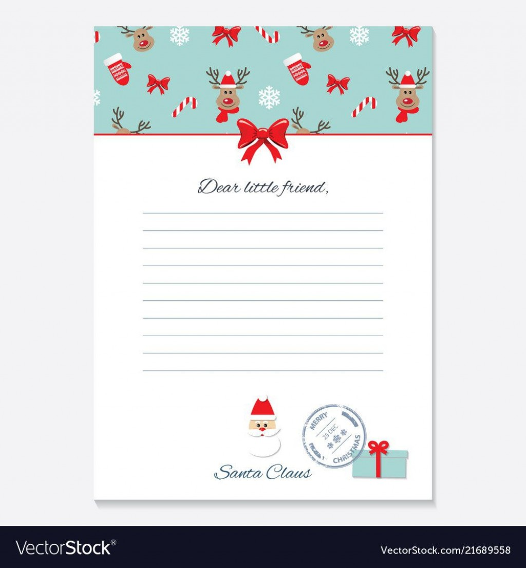005 Frightening Letter From Santa Template High Def  Free Printable Word Doc UkLarge