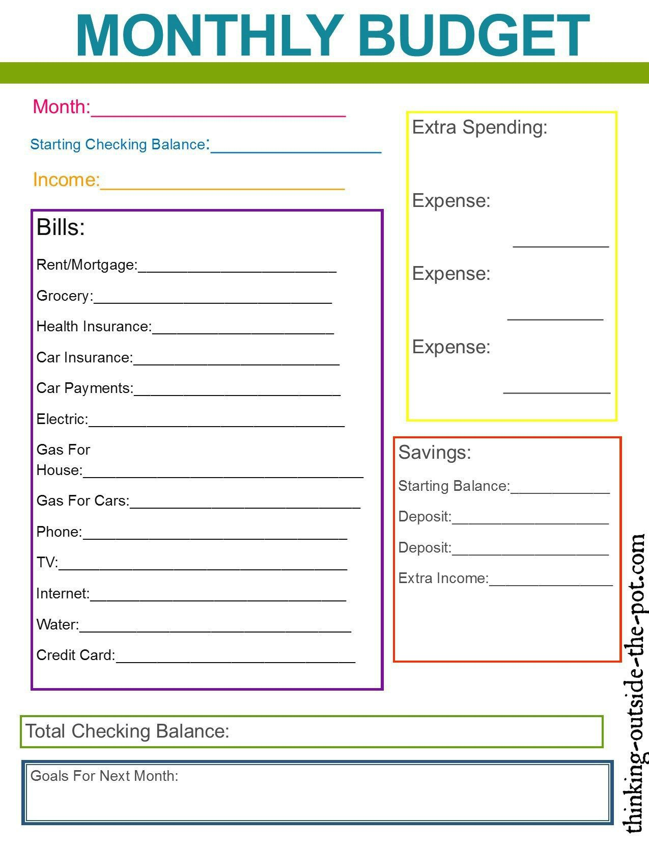 005 Frightening Monthly Budget Template Excel 2007 Example  PersonalFull