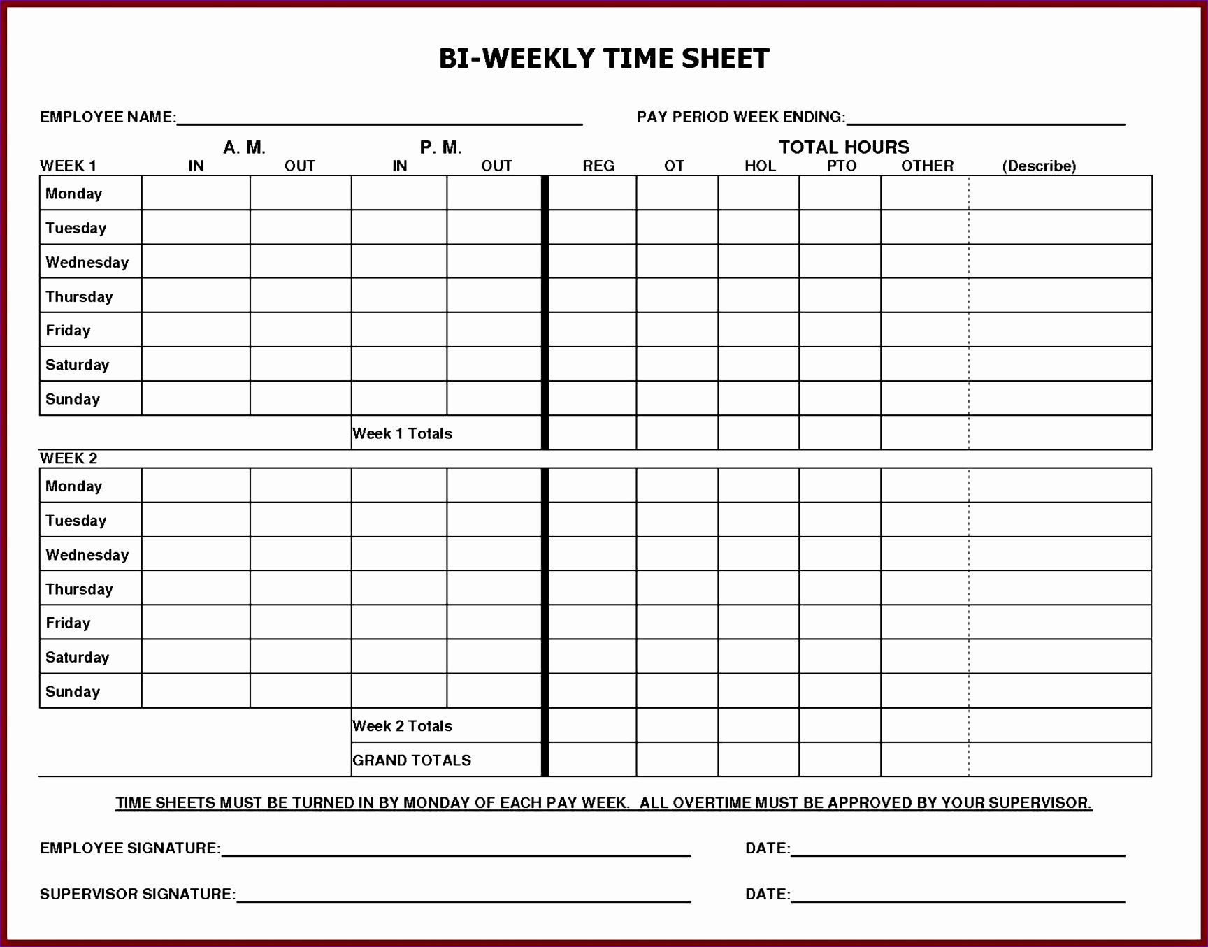005 Frightening Monthly Timesheet Excel Template Example  Multiple Employee Free Semi-monthly 2020Full