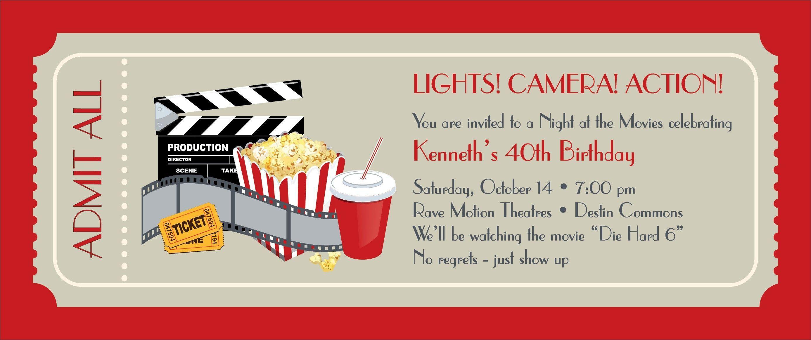 005 Frightening Movie Ticket Invitation Template Inspiration  Blank Free Download Editable PrintableFull