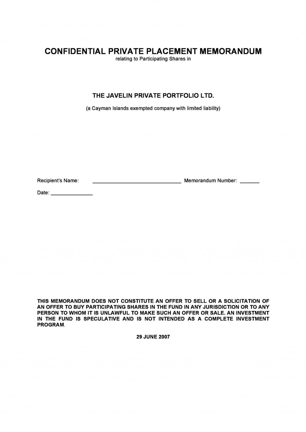 005 Frightening Private Placement Memorandum Template Free Download Highest Quality Large