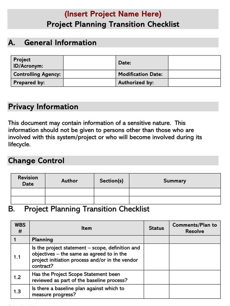 005 Frightening Project Transition Plan Sample Concept  Template Ppt OutFull