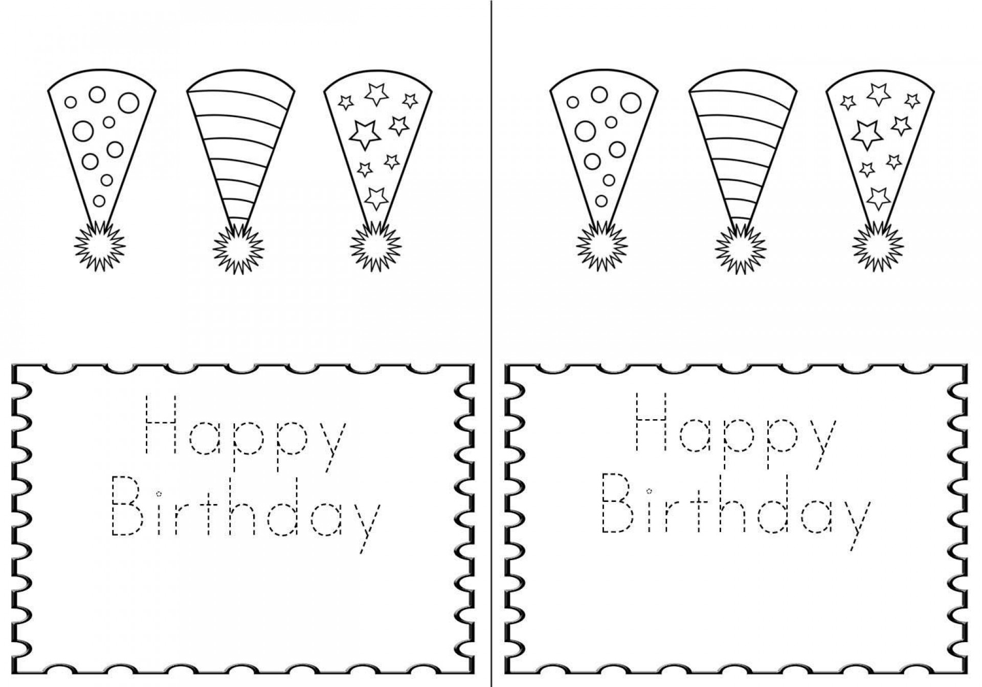 005 Frightening Quarter Fold Birthday Card Template Free High Def  Download1920