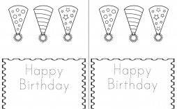 005 Frightening Quarter Fold Birthday Card Template Free High Def  Download