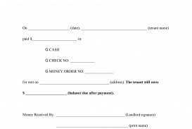 005 Frightening Rent Receipt Template Doc Photo  House Format Download Free