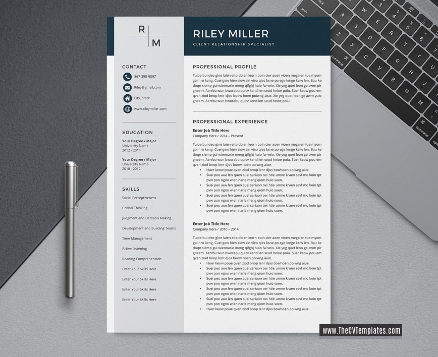 Resume Template For Word 2020 Addictionary