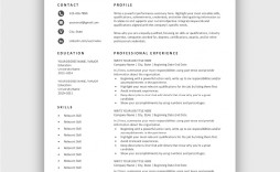 005 Frightening Simple Job Resume Template Sample  Download First
