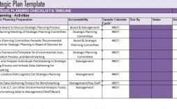 005 Frightening Strategic Plan Template Excel Design  Action Communication
