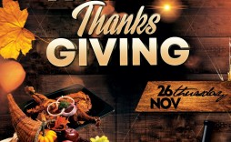 005 Frightening Thanksgiving Flyer Template Free Concept  Food Drive Party