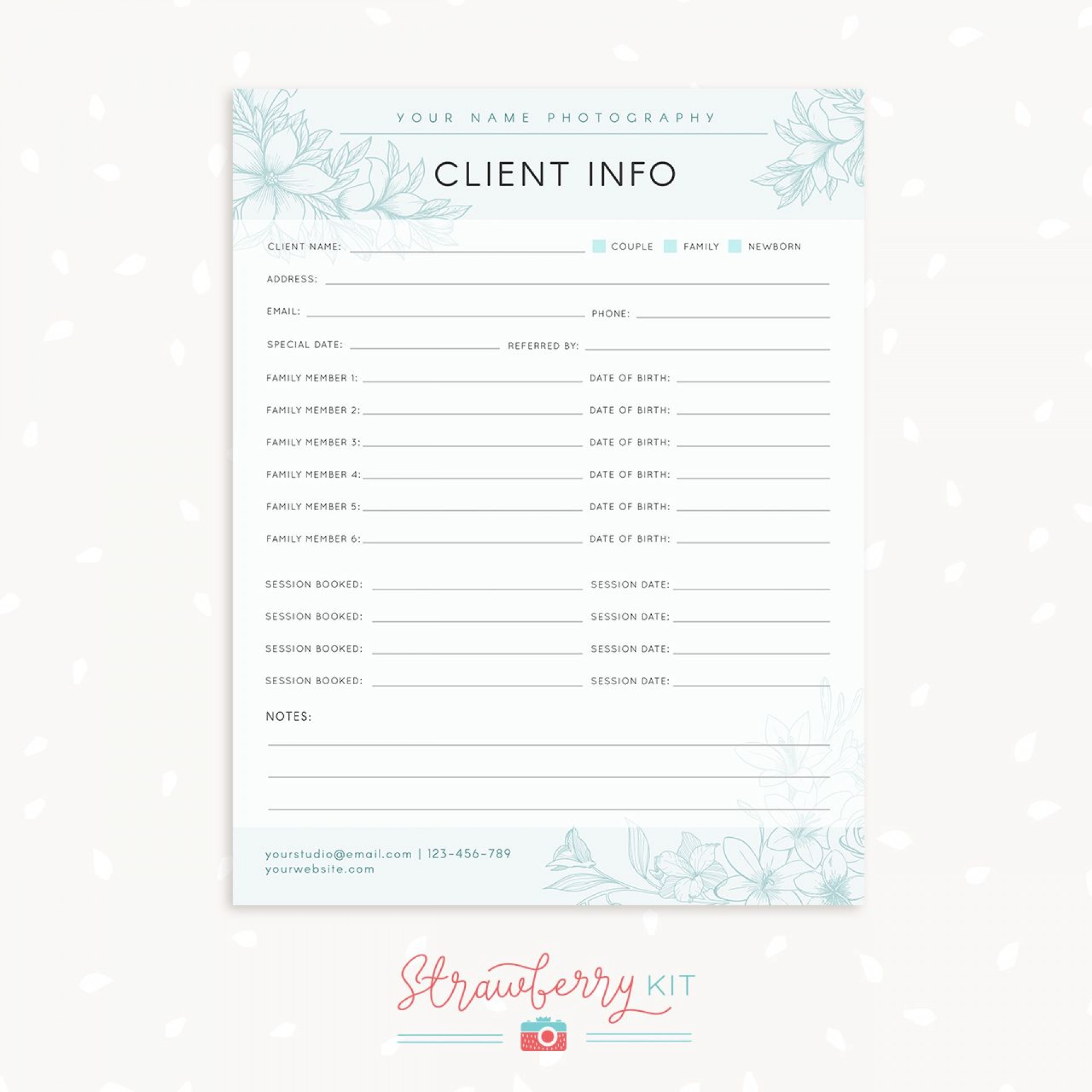 005 Imposing Client Info Form Template Highest Clarity  Free Photography Information Download1920