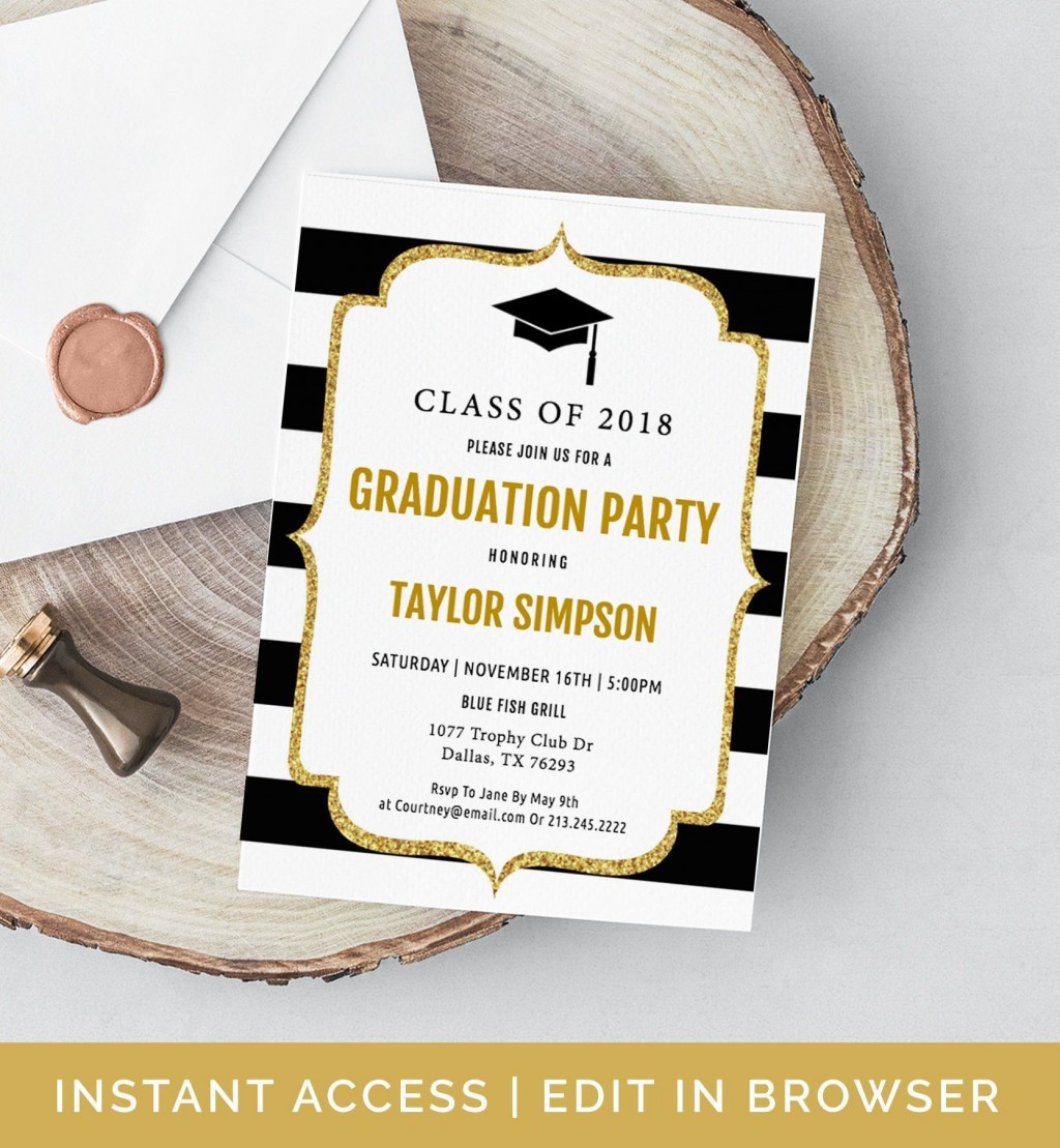 005 Imposing College Graduation Party Invitation Template Concept  TemplatesLarge