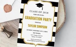 005 Imposing College Graduation Party Invitation Template Concept  Templates