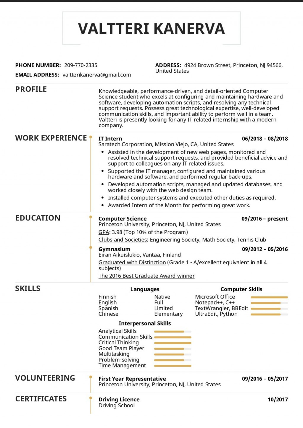 005 Imposing College Internship Resume Template High Resolution  Student Job For DownloadLarge