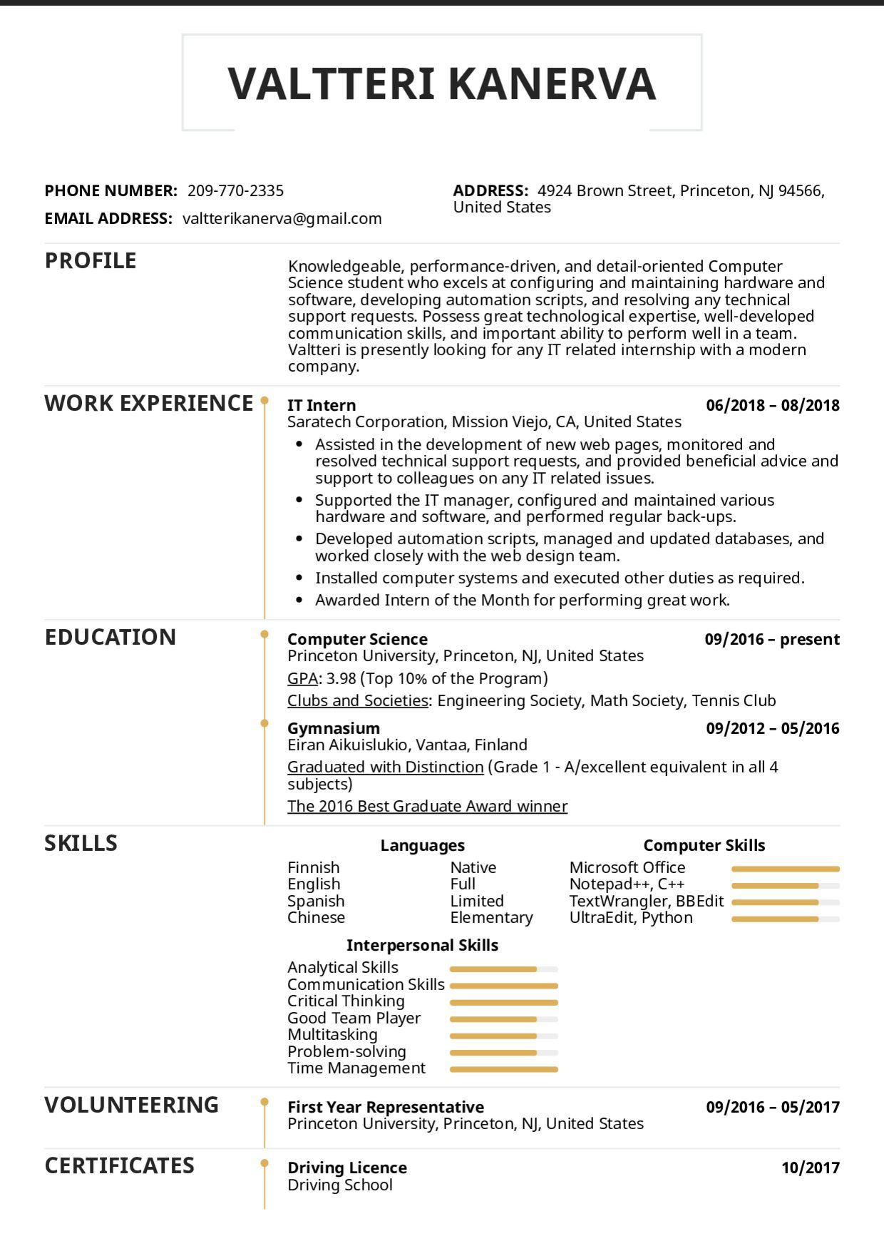 005 Imposing College Internship Resume Template High Resolution  Student Job For DownloadFull